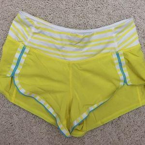 lululemon athletica Speed Short Sz 2. Neon Yellow